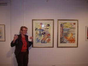 Mina målningar på utställning på Trollhättans konsthall 2008