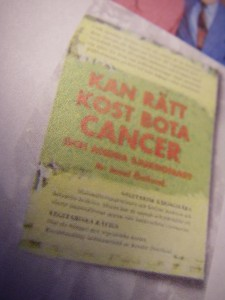 Kan rätt kost bota cancer av Josef Östlund