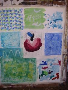 Egen abstrakt akvarell från Gerlesborg 2010