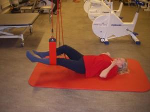 Redcord-träning hos sjukgymnast på Olskrokens Rehab
