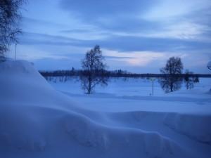 Utsikt från sovrumsfönstret