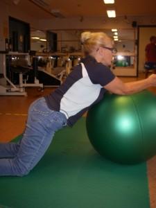 Träning med balansboll