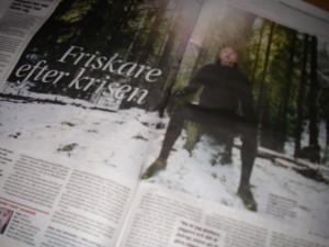 """""""Friskare efter krisen"""" artikel i GP"""