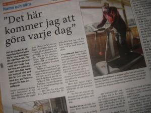 Artikel i Strömstads Tidning 2012.03.24