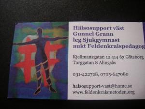 Feldenkraiss hos Gunnel Grann