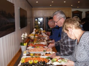 Massor med fantastiskt god mat på Rustads Höyfjellshotell