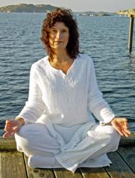 Annette Westberg från Gryningstimman, vår yoga instruktör
