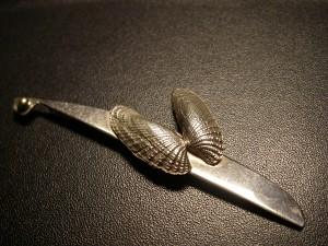 Ängel i silver med guldöga (eget hantverk)