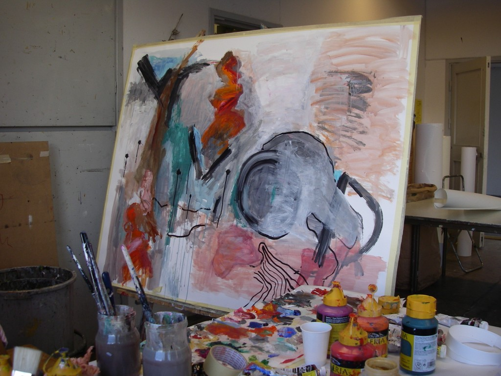 från kursen i abstrakt konst i Gerlesborg