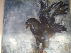 Eagle akryl 100x100 togs med som arbetsprov
