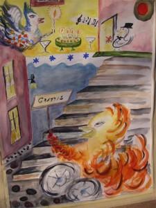 Födelsedagskalaset akvarell Pris: 4.500:-