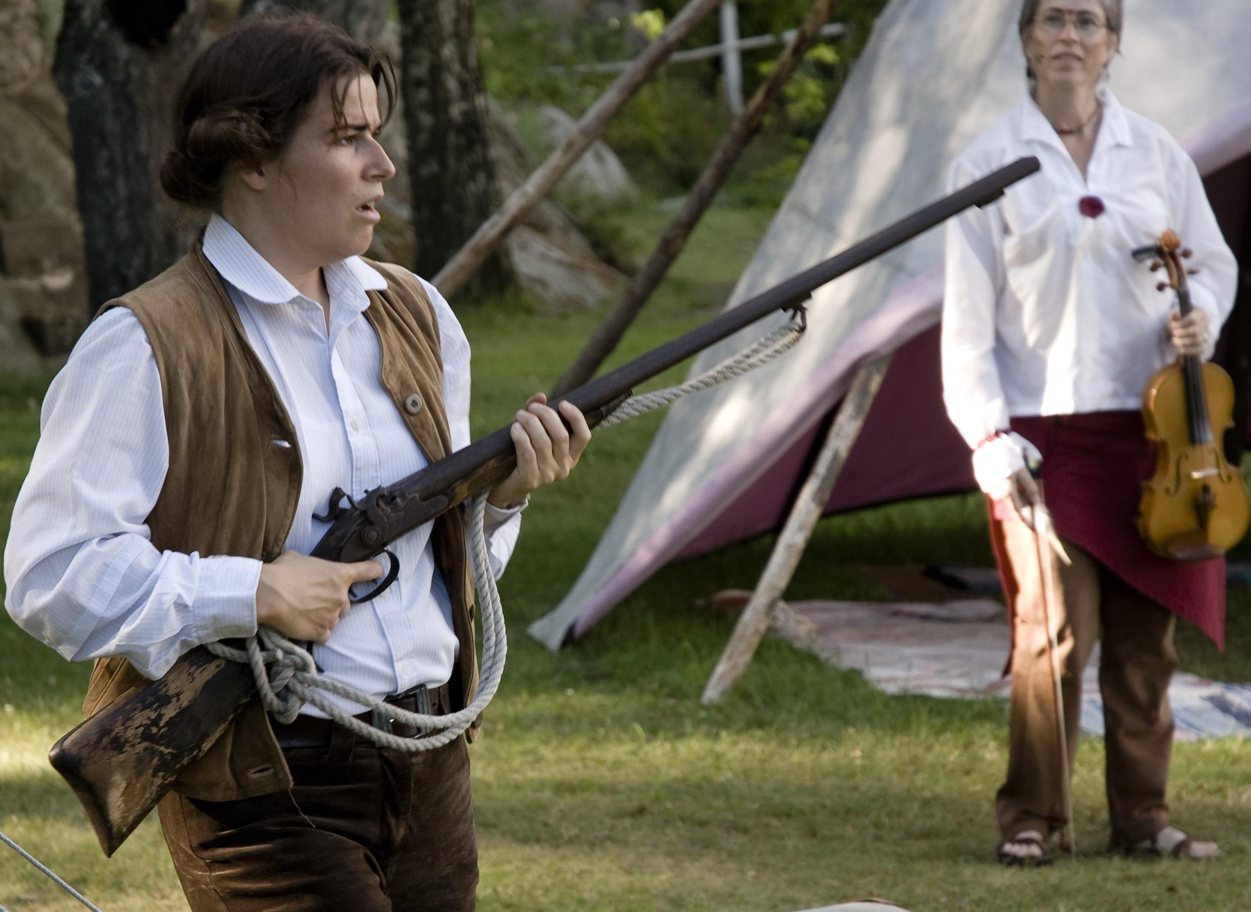 """Åsa Knide som Hilma i teaterföreställningen """"Hilma på Alaska"""" 2007"""