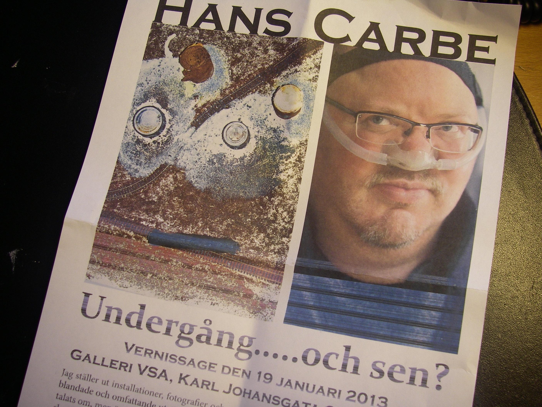 Hans Carbe, ordförande i konstföreningen VSA