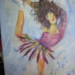 Ballerinan akryl Såld