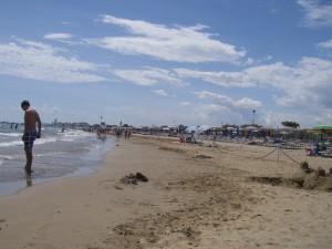 Stranden vid Jesolo