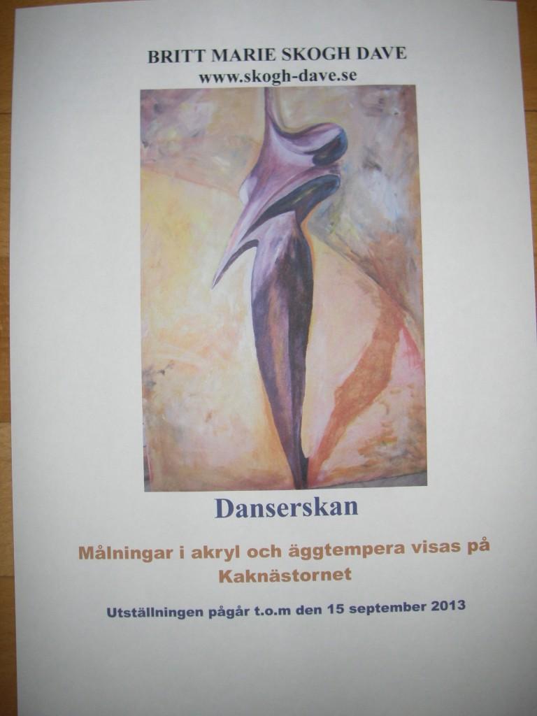 Konstutställning i Kaknästornet t.o.m  15 september 2013