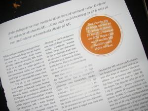 Artikel i MS-tidningen