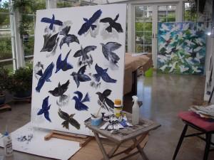 Den andra stora fågelmålningen