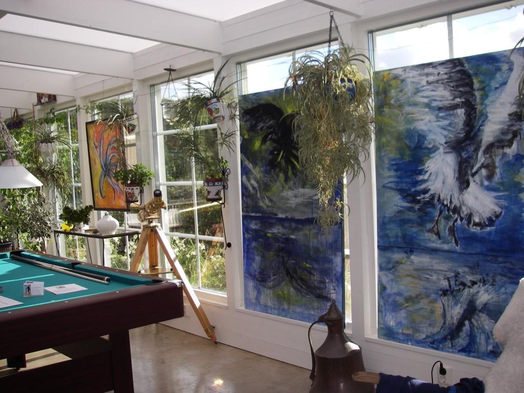 Konstutställning i verandan