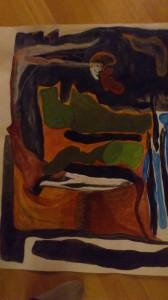 Min första abstrakta målning