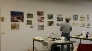 Mina målningar 3:e raden fr. vänster