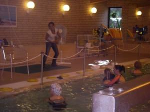 Vattengympa för Kajsa