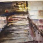 Trappan akvarell Pris: 500:-