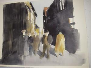 Målning av en av de andra deltagarna i Gärlesborg