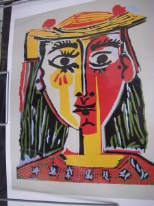 Målning av Picasso
