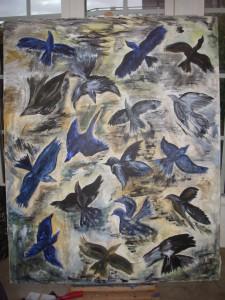 Svarta fåglar i stan  Pris: 3.750:-