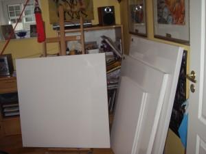 Nyinköpta målardukar