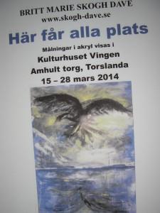 Här får alla Plats, Utställning i Kulturhuset Vingen, Amhult, Torslanda