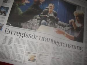 Hans Sjöberg i Göteborgs-Posten 2014.03.21