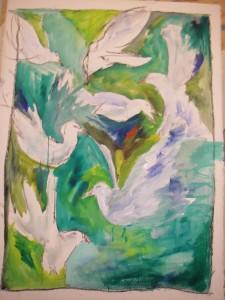 Förarbetet till mina fågelmålningar