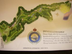 Skårkortet från Dynekilens golfbana