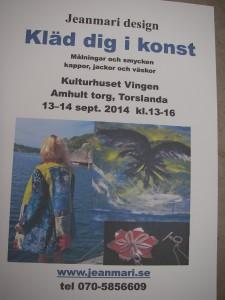 """Affisch till utställningen """"Kläd dig i konst"""""""