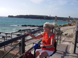 På väg över till Europas sydligaste punkt:Tarifa