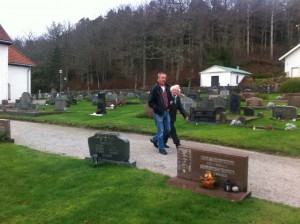 På kyrkogårdsbesök
