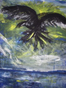 Raven, akryl