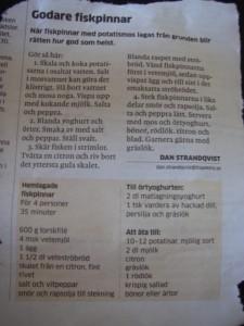 Dan Strömqvists recept idag