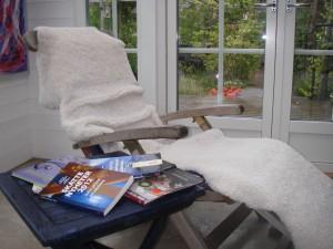 Läshörna i verandan