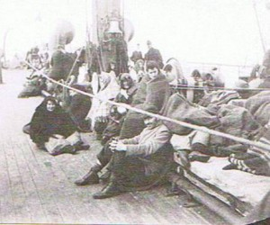 På båten i väntan på ankomsten i Amerikat 1896