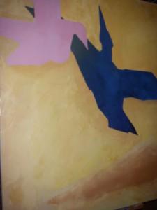 Minimalism, målning på väg att bli klar