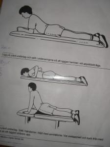 Armhävningar för ryggen