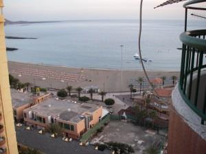 Utsikt från vår balkong på Teneriffa i våras