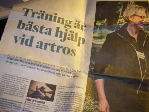 Träna bort artrosen hos Carina på Hälsa i Kubik i Mölndal