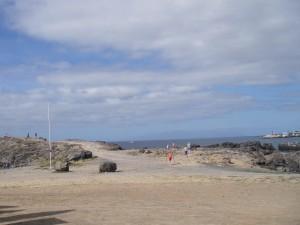 På stavpromenad långt ut på udden