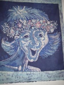 """Batik """"Näcken"""" av Kaja Lindvall"""