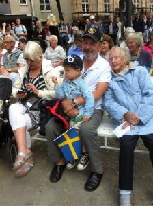 Med mamma på Nationaldagsfirande i Strömstad