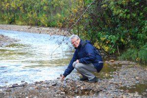 Alaska, Bonanza creek nära Dawson, där den första guldklimpen hittades